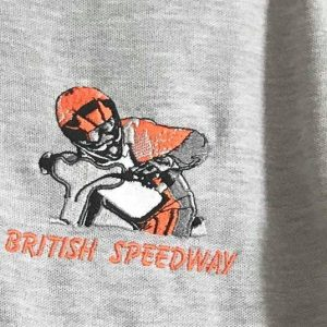British Speedway Rider Looking Left Range